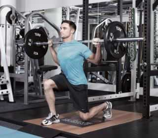 Barbell Lunge 1